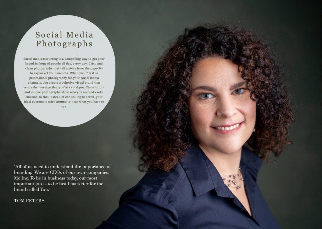 magazine photography page